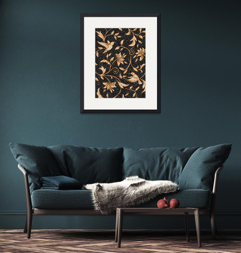 """Floral Black Chintz""  by SteviesArt"