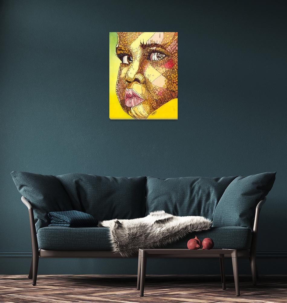 """""""Rwandan Face""""  (2011) by ArtbyRobertMahosky"""