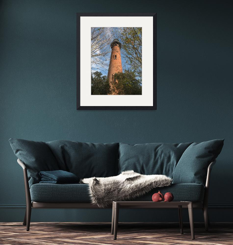 """""""Currituck Beach Lighthouse Outer Banks""""  (2007) by linettewrites"""