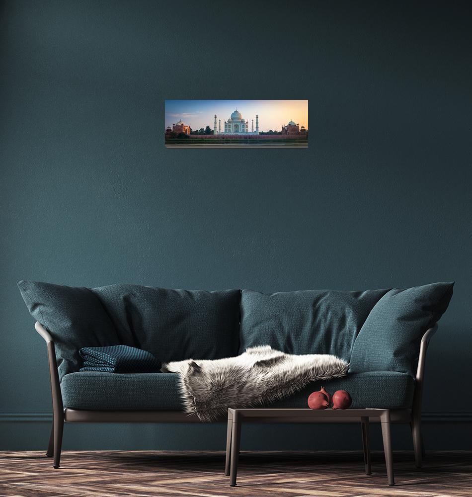 """Taj Mahal Panorama""  (2013) by Inge-Johnsson"