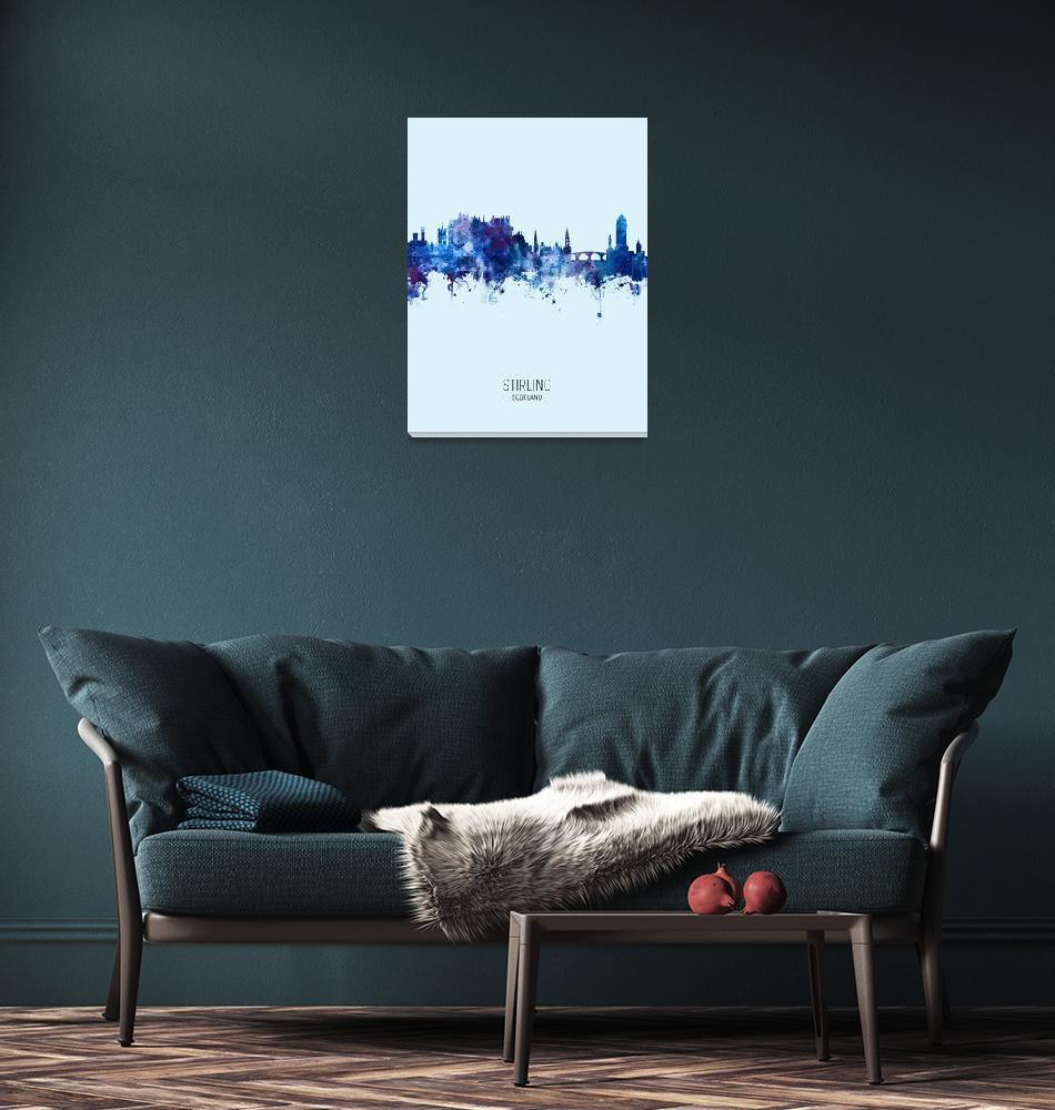 """""""Stirling Scotland Skyline""""  (2019) by ModernArtPrints"""