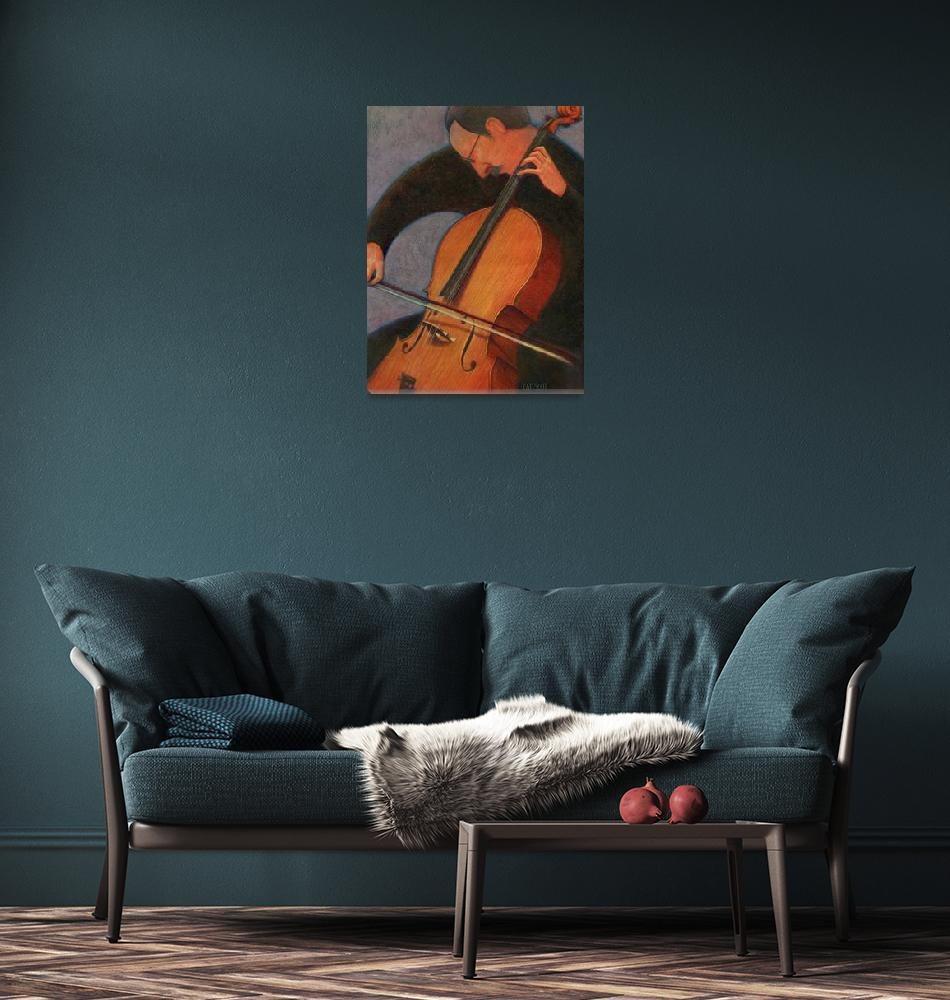 """Cello Player""  by CatScott"