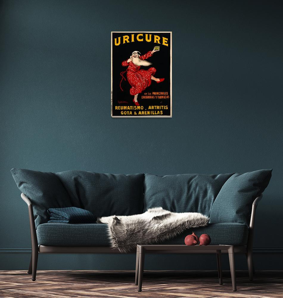 """""""Uricure by Leonetto Cappiello Vintage Poster""""  by FineArtClassics"""
