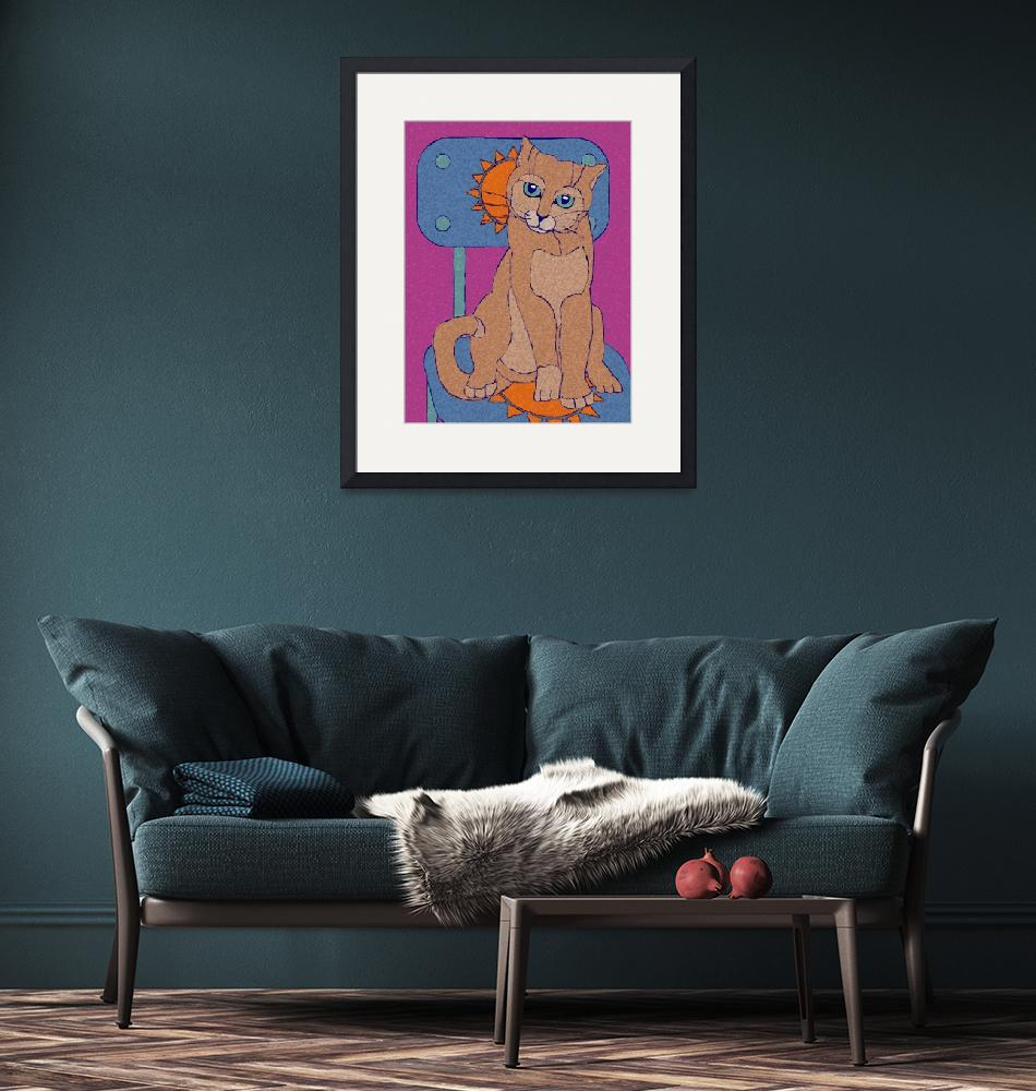 """""""Cat On A Chair""""  by maryostudio"""