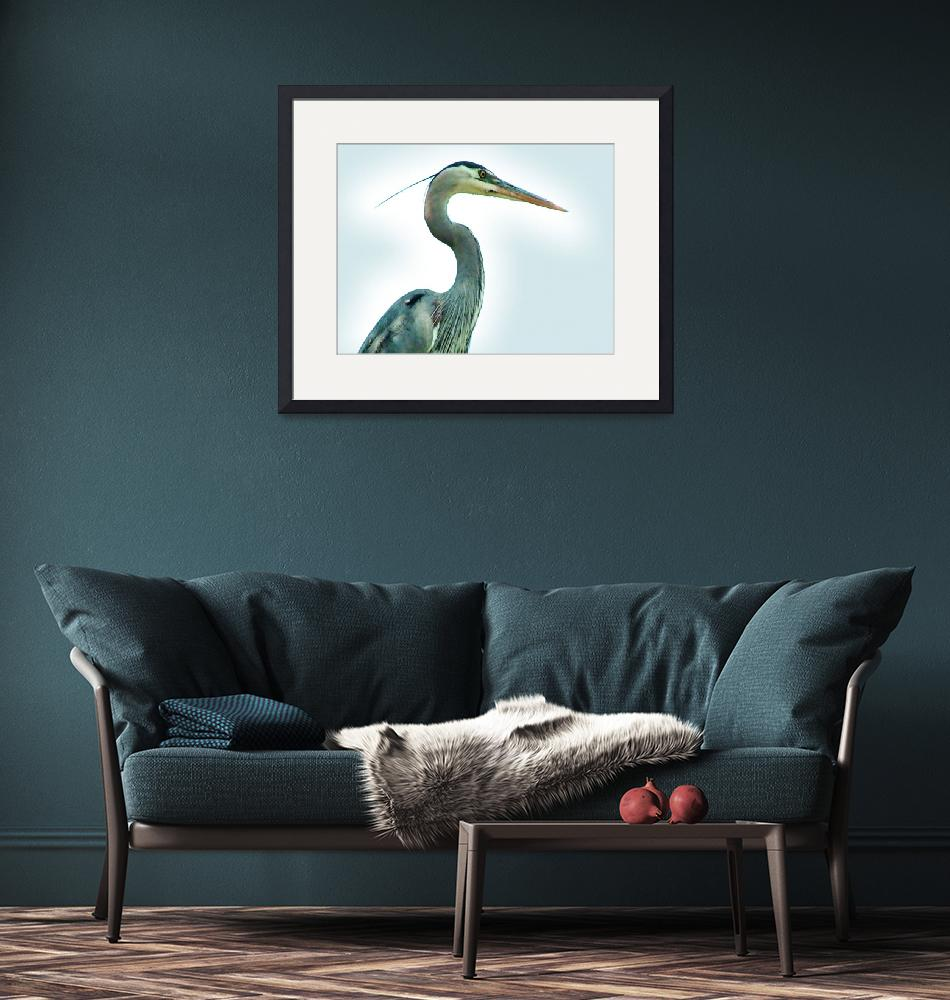"""""""The Ess of the Heron""""  (2013) by kcam"""