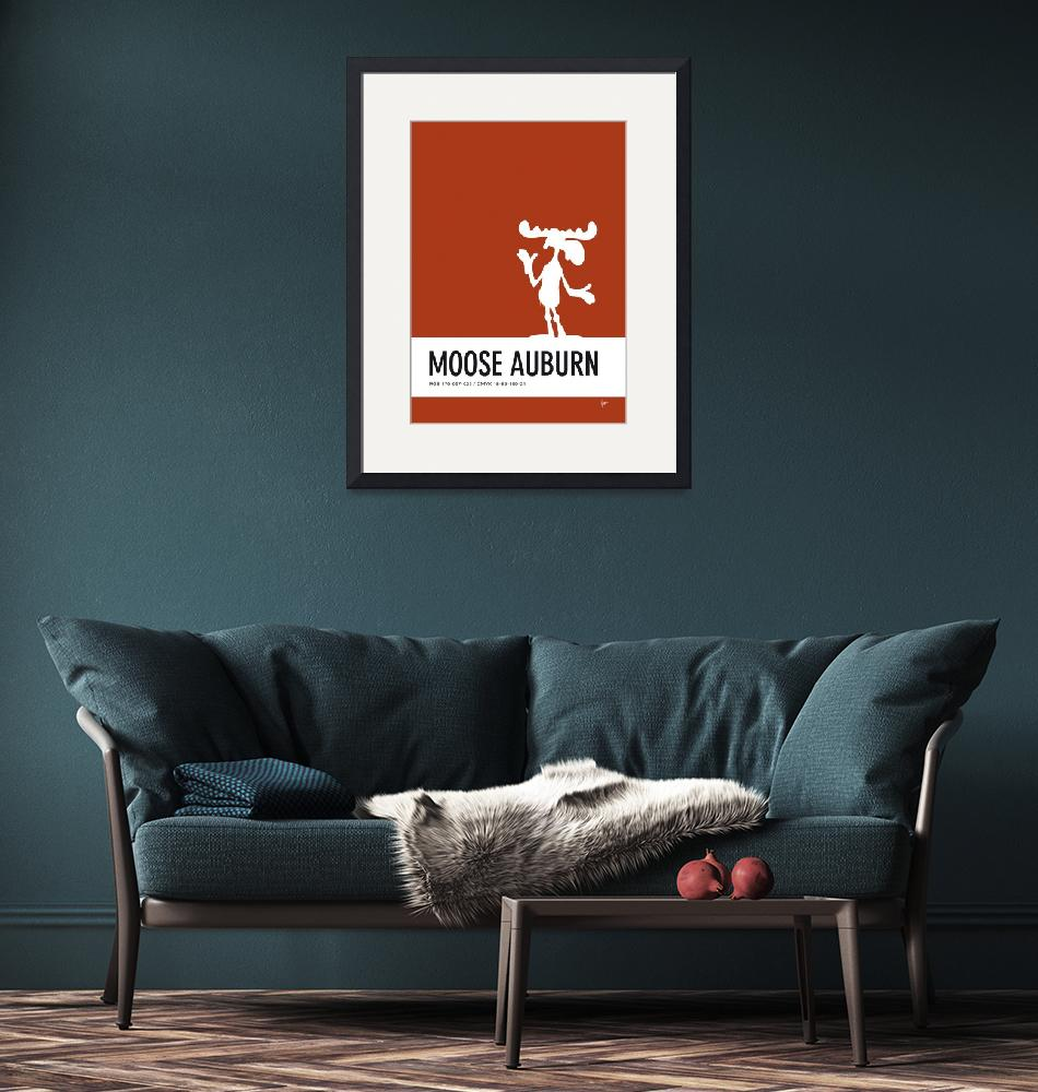 """No19 My Minimal Color Code poster Bullwinkle""  by Chungkong"