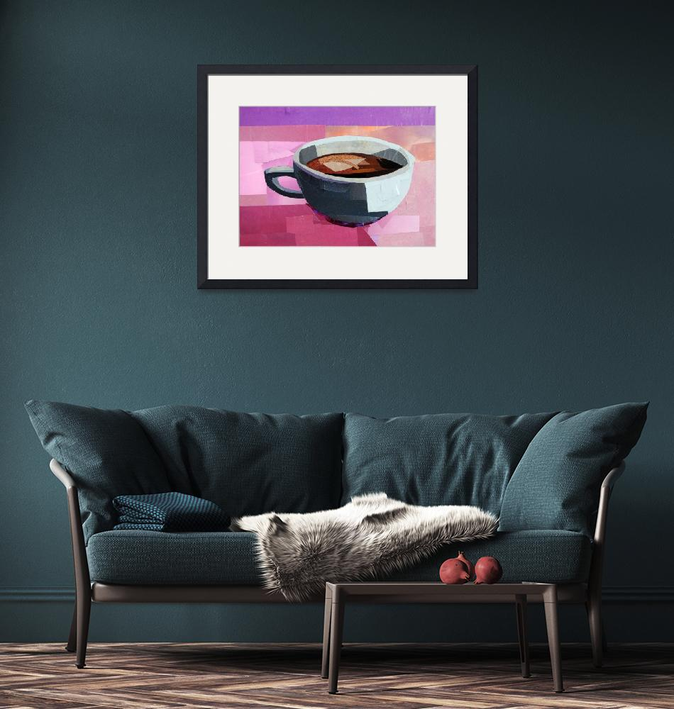 """""""Another Cup of Coffee, Please""""  (2015) by megancoyle"""