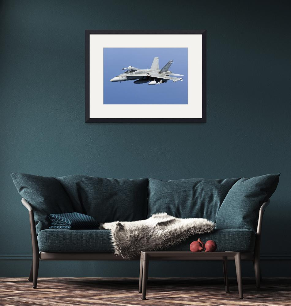 """""""A CF-188A Hornet of the Royal Canadian Air Force"""" by stocktrekimages"""
