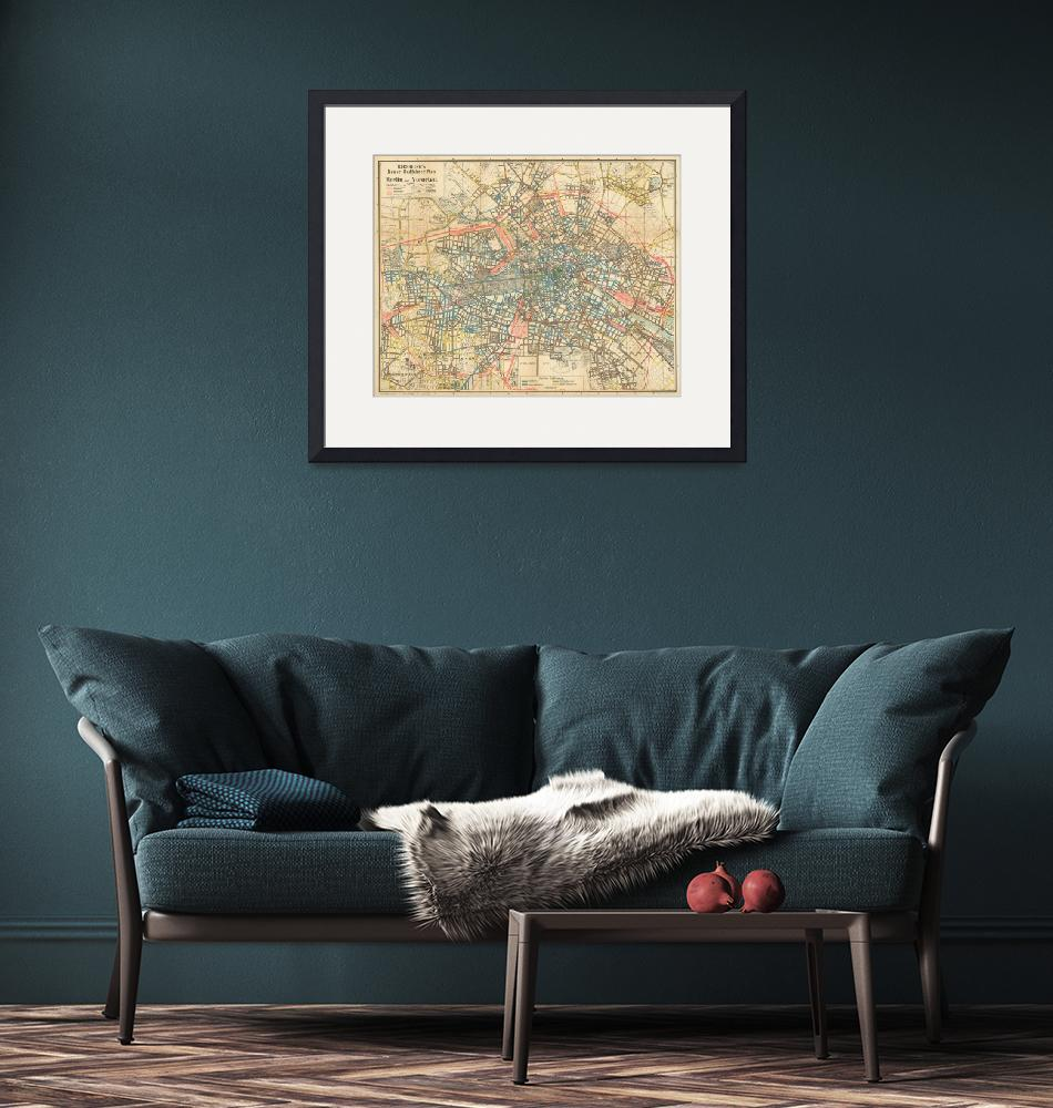 """""""Vintage Map of Berlin Germany (1904)""""  by Alleycatshirts"""