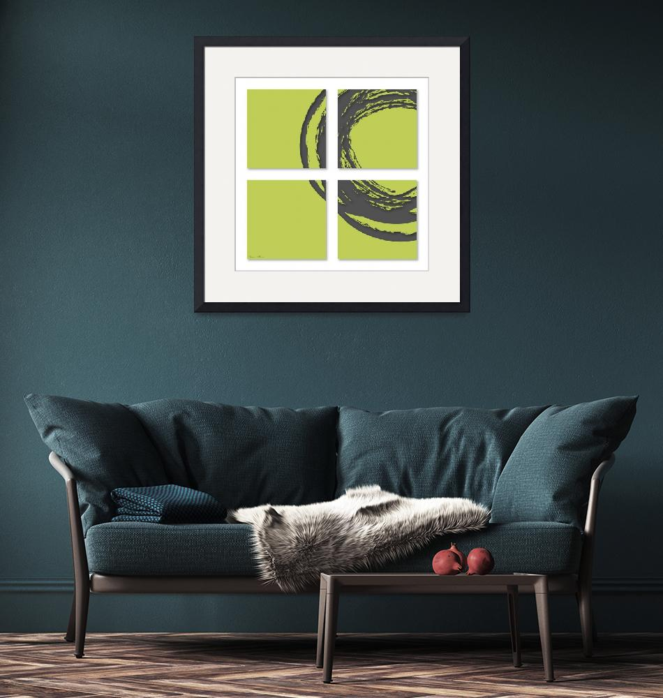 """""""Circle on green"""" (2012) by nomi"""