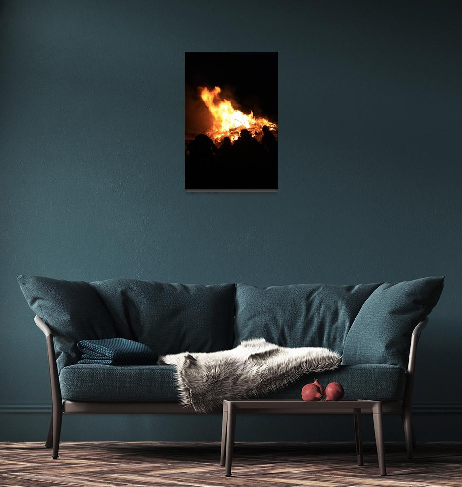 """North Beach Bonfire 16""  (2009) by dmarshall"