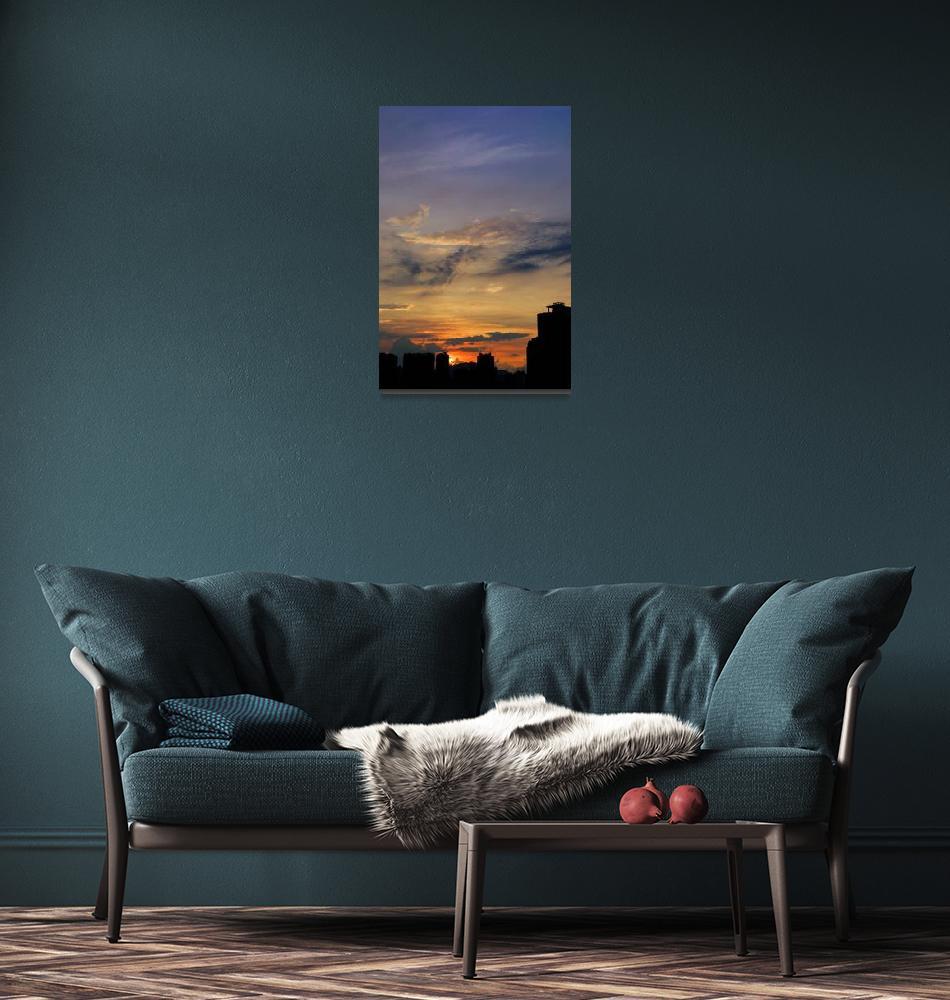 """City sunrise""  (2007) by xavieryip"