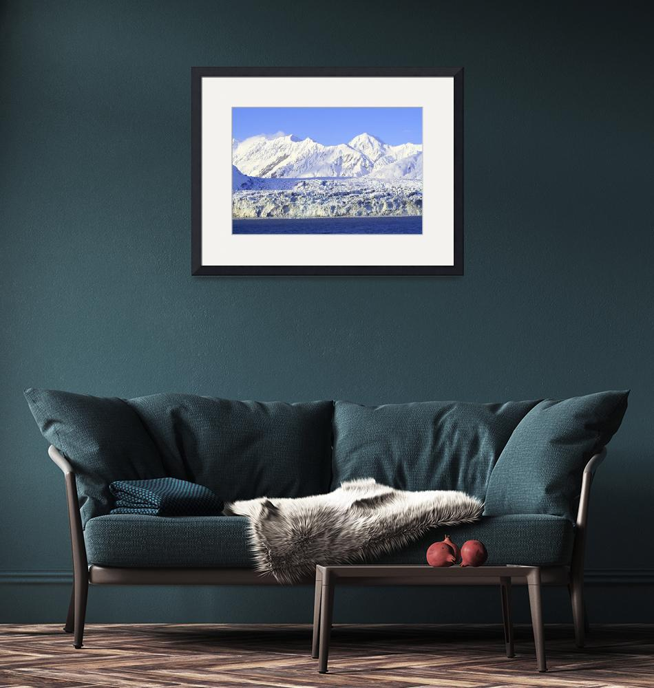 """Alaska Mountain and Glacier""  (2007) by ekewilson"