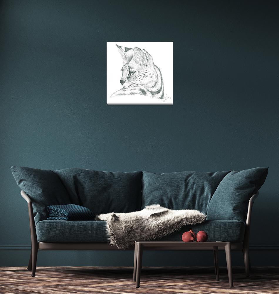 """""""Serval""""  (2006) by silvercrossfox"""