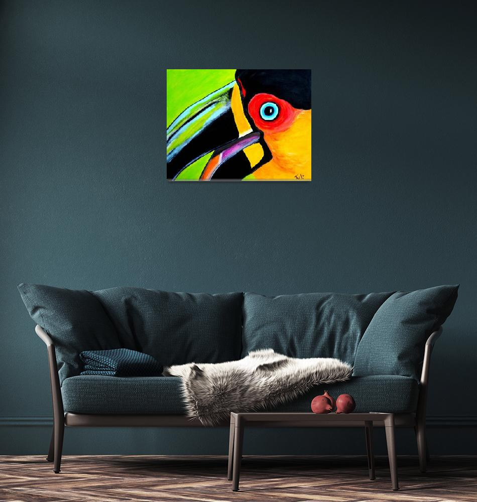 """The smiling toucan""  (2011) by ClaudiaTuli"