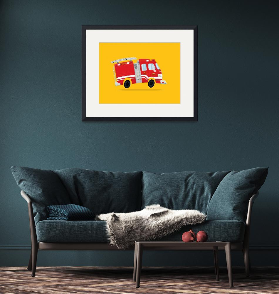 """Cute Firetruck""  (2017) by nathanpoland"
