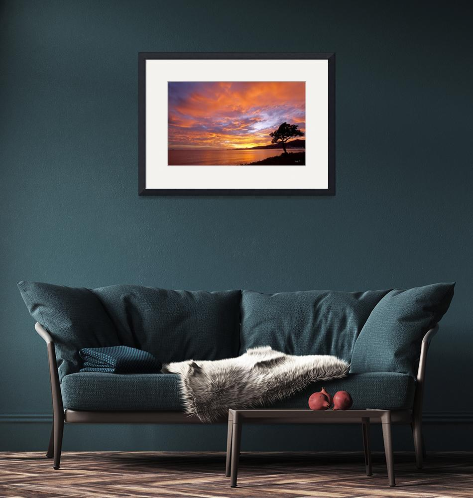 """""""Foreshore Sunset""""  (2009) by gregoryscott"""