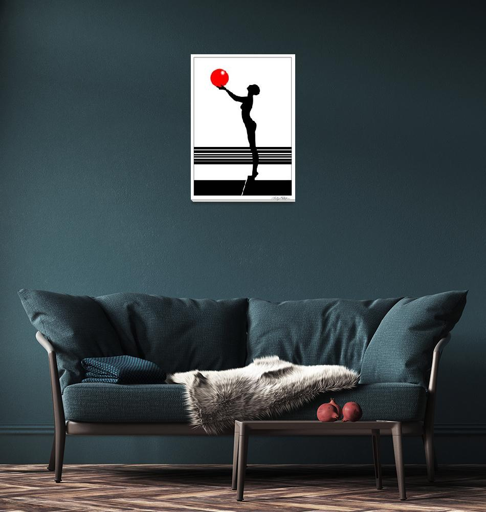 """""""Girl with Red Ball"""" (1998) by digiteyes"""