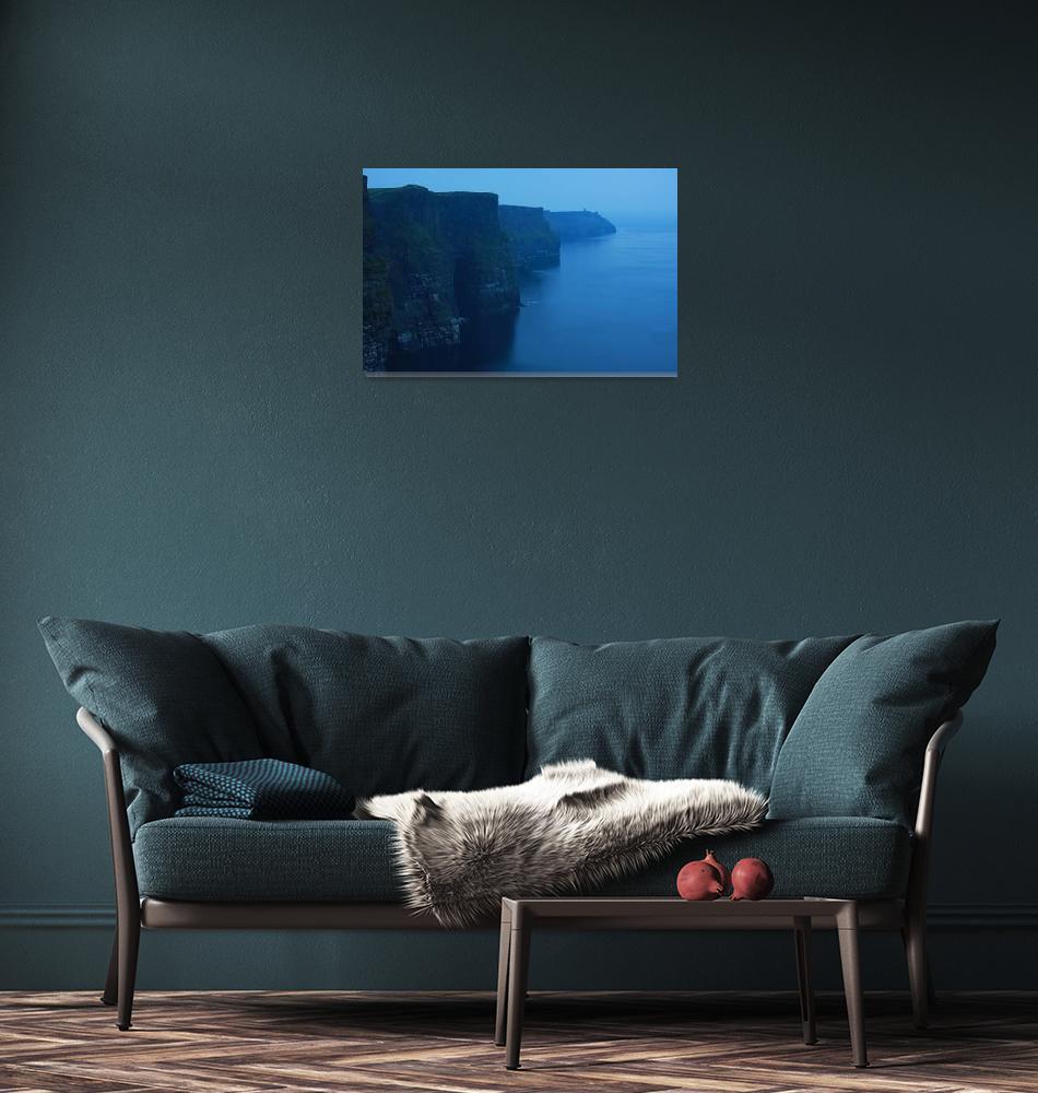 """Ireland landscape cliffs of mohar""  (2009) by royporat"