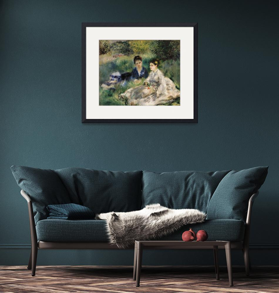 """On the Grass by Renoir""  by FineArtClassics"