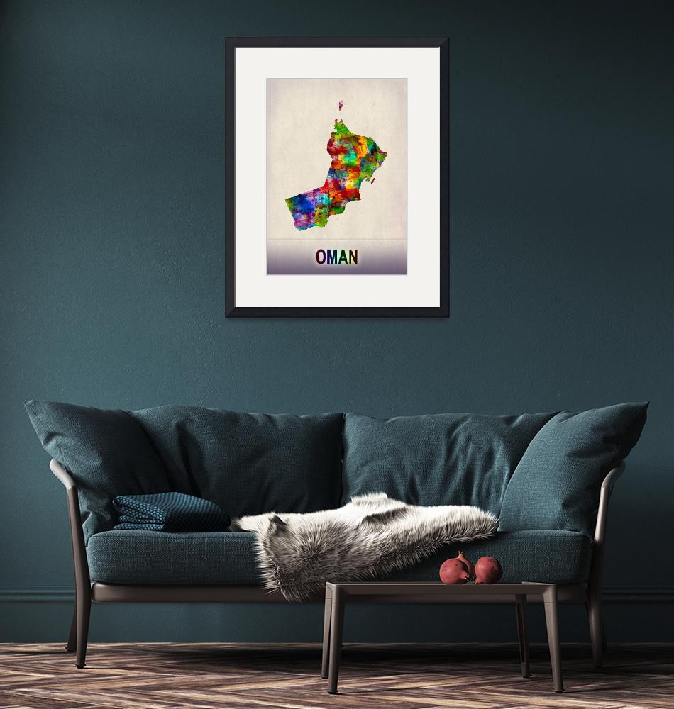 """""""Oman Map""""  by Towseef"""