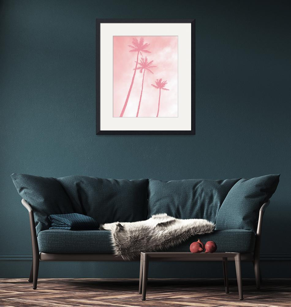 """""""Pink Palms""""  (2018) by moderntropical"""