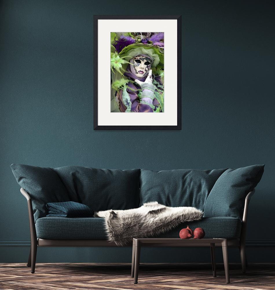 """""""Lady of Purple and Lime Green Feathers""""  by DonnaCorless"""