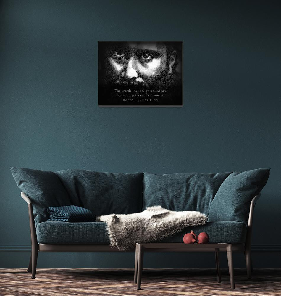 """Inspirational Portrait -Hazrat Inayat Khan""  (2012) by CreativeArtisticNuance"