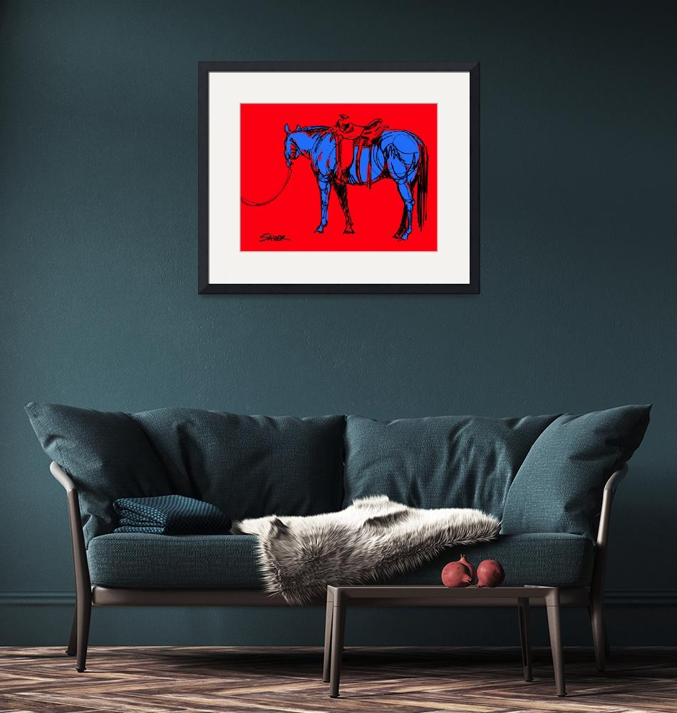 """""""I Caught a Good One (in Red/Blue)""""  (2013) by JenSauerArt"""
