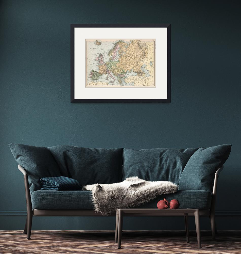 """Vintage Map of Europe (1892)""  by Alleycatshirts"