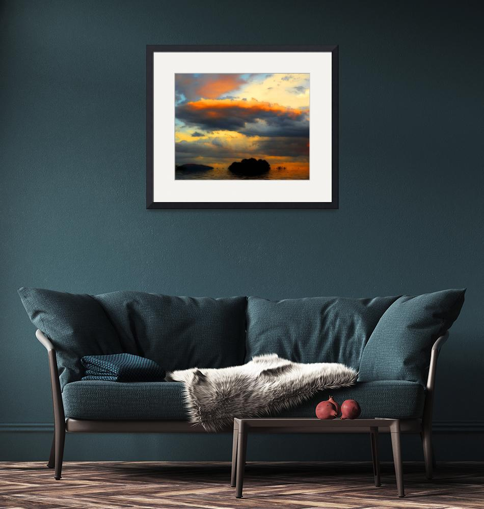 """""""Orange Clouds in Sky""""  (2009) by Attentiongetters"""