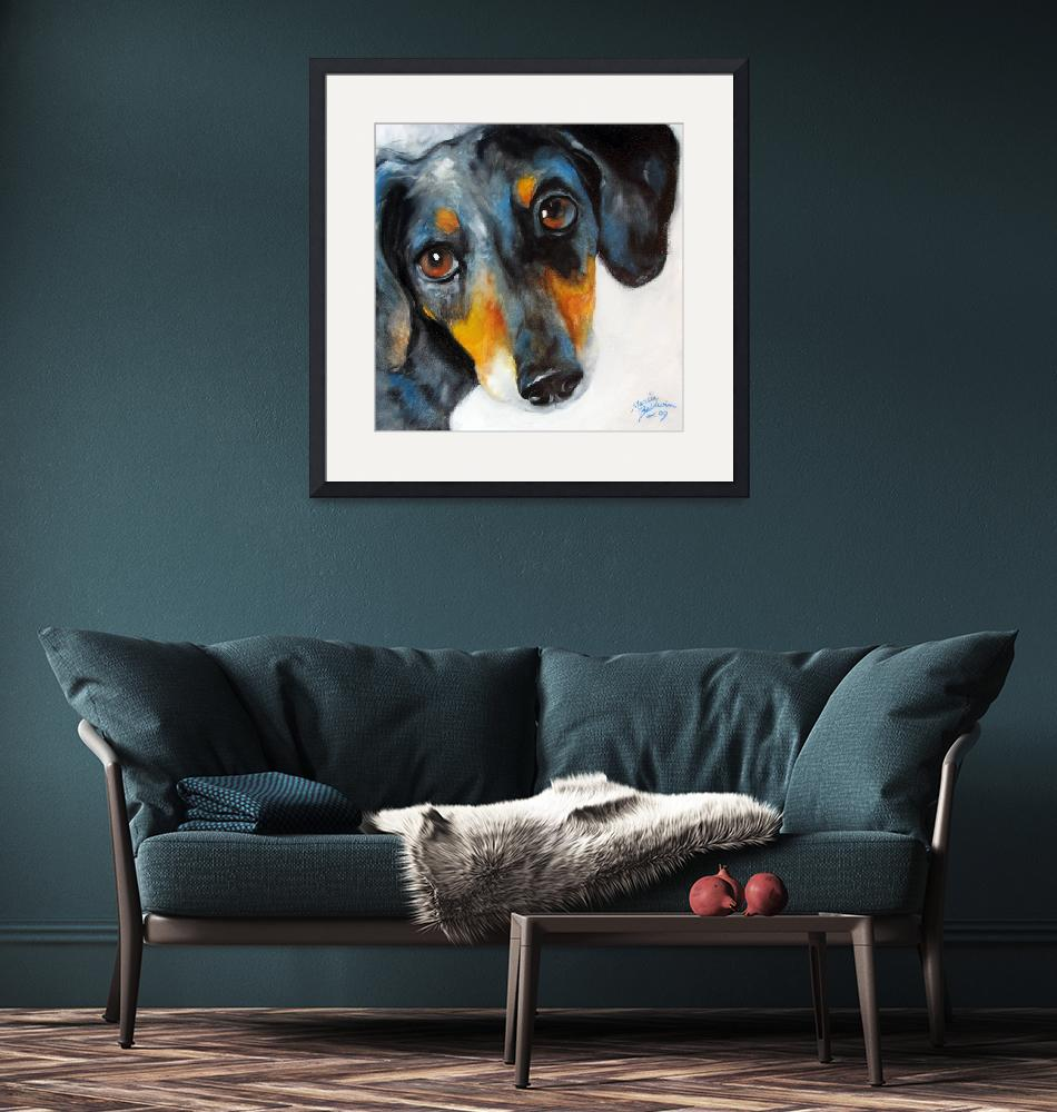 """""""DOXIE DAPPLED""""  (2009) by MBaldwinFineArt2006"""