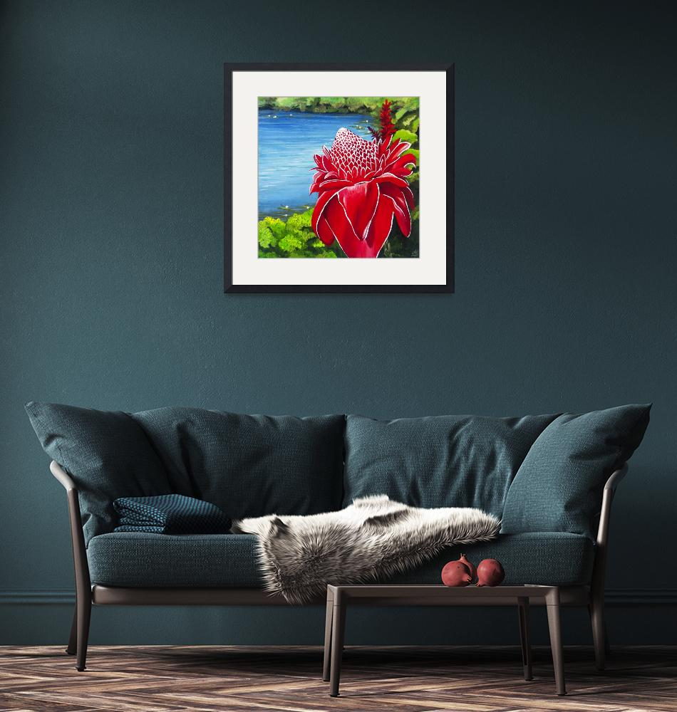 """Red Torch Ginger Lily""  (2013) by monicadowns"