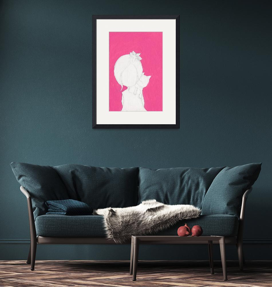 """""""Pink_girl_cat_3""""  (2013) by francisfung"""