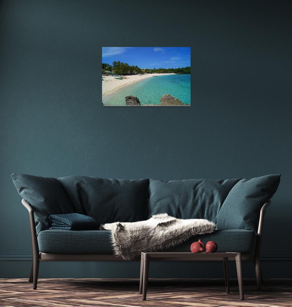 """""""Boats On The Beach. Boracay.""""  (2012) by cdocitylife"""