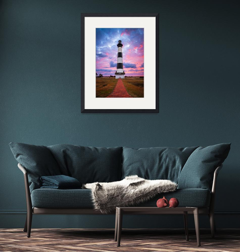 """Bodie Island Lighthouse Sunrise Photography""  (2016) by DAPhoto"