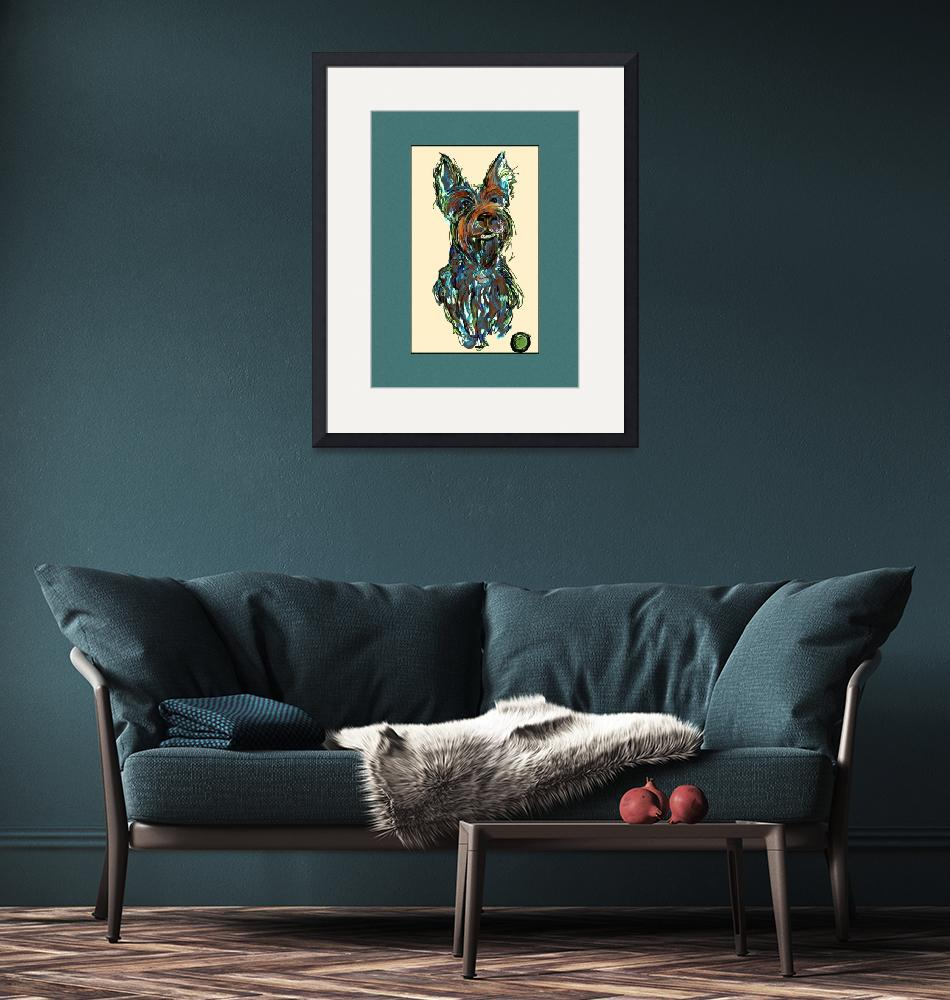 """Scottish Terrier "" Big Tommy""""  by artpaw"