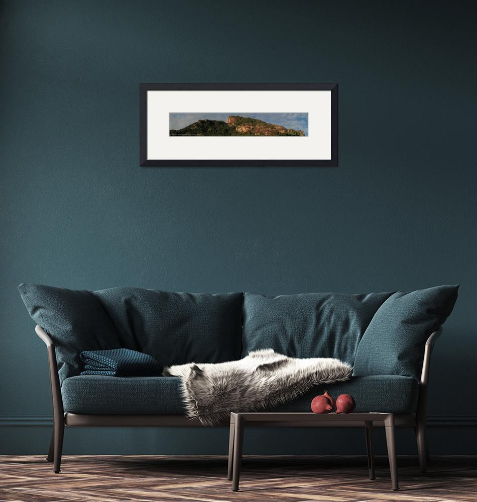 """""""Panorama Seychelles mountains""""  (2011) by easyfigure"""
