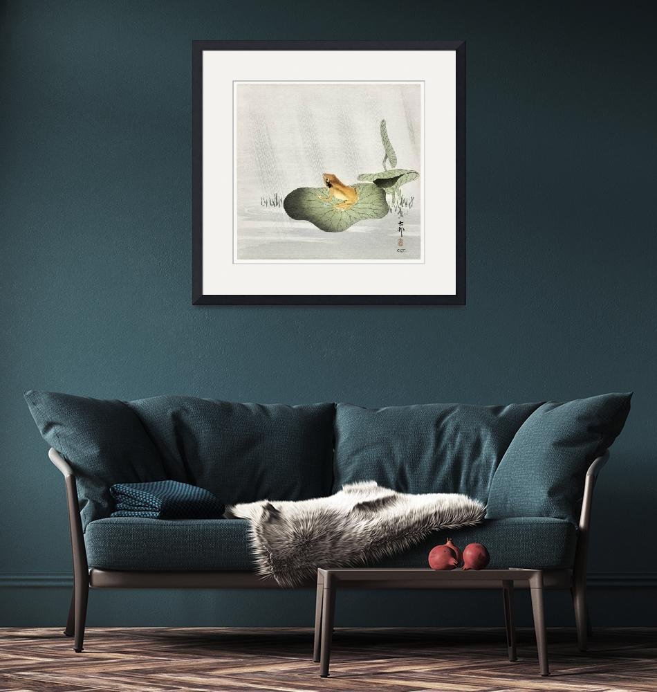 """""""Frog on Lotus Leaf by Ohara Koson""""  by FineArtClassics"""