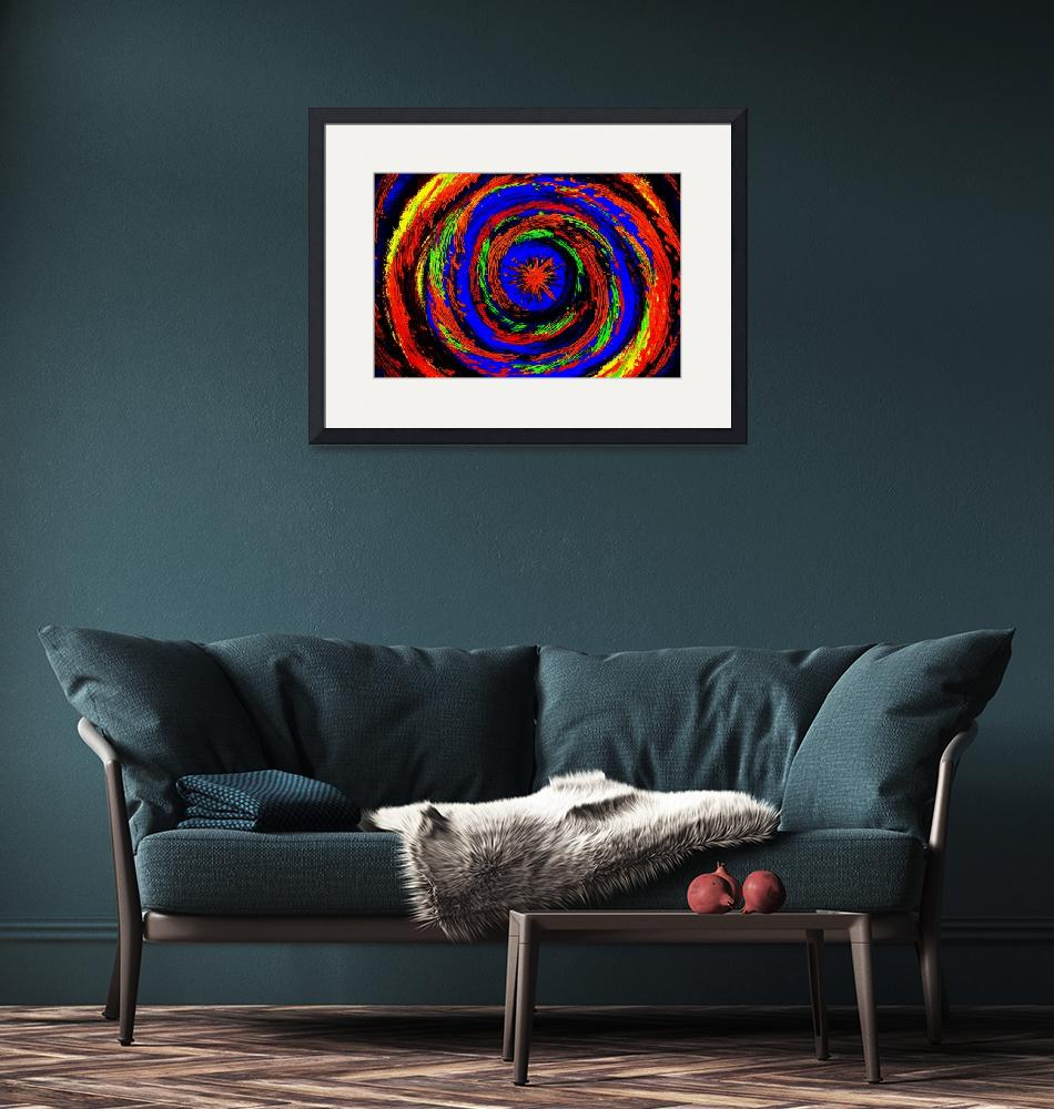 """""""Psychedelic Spiral Painting""""  (2019) by Jillybeansart"""