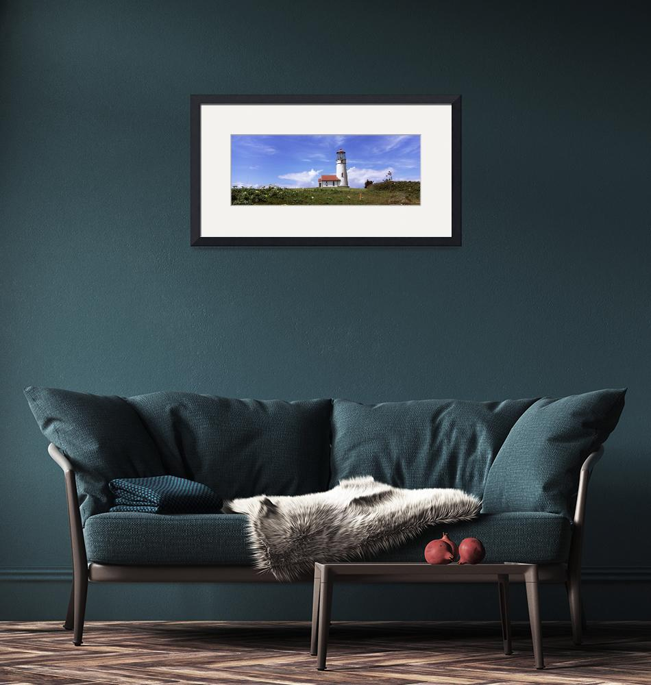 """""""Low angle view of a lighthouse Cape Blanco Lighth""""  by Panoramic_Images"""