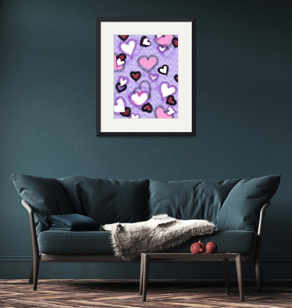 """""""lavender hearts""""  (2010) by NickBiscardiArt"""
