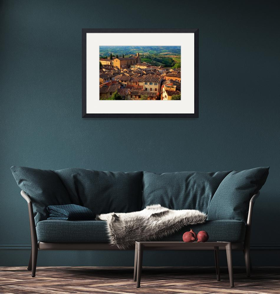 """""""San Gmignano from Above""""  (2010) by Inge-Johnsson"""