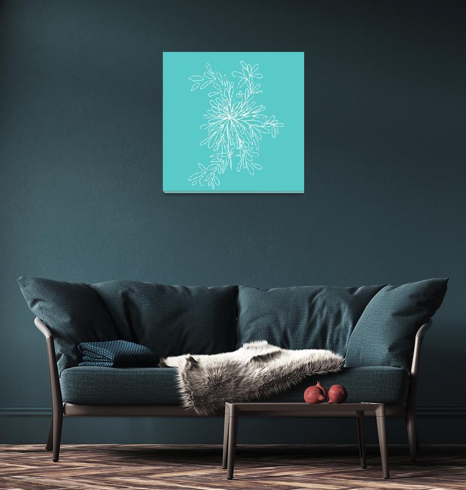 """Blossom Pop Aqua""  (2013) by TuesdayMoon"