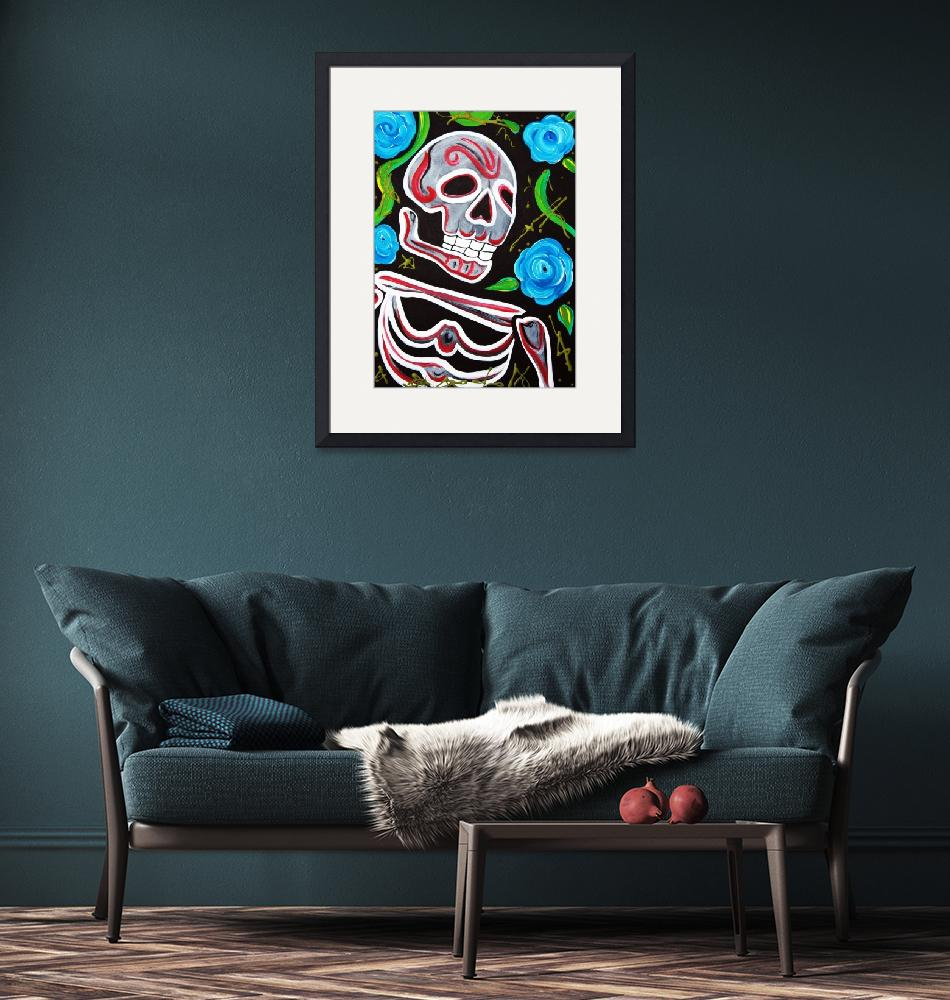 """Red Skull N Roses""  (2012) by ArtPrints"