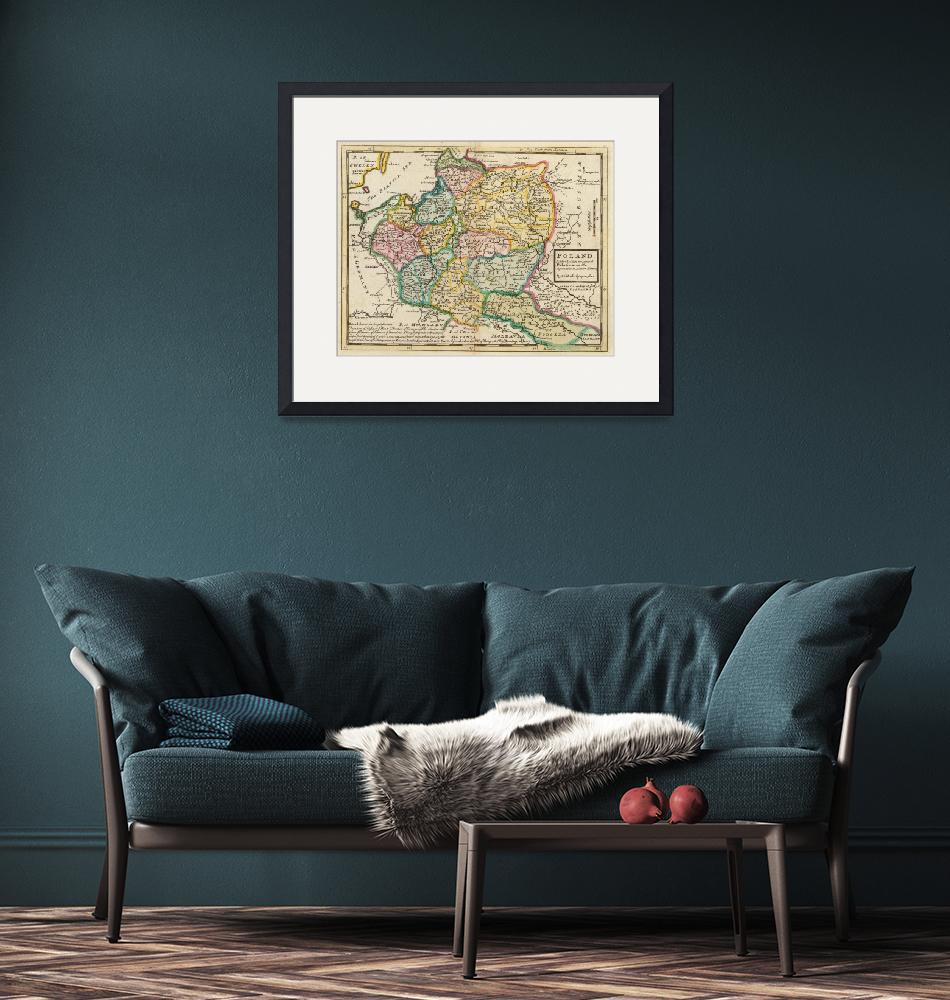 """""""Vintage Map of Poland (1736)""""  by Alleycatshirts"""