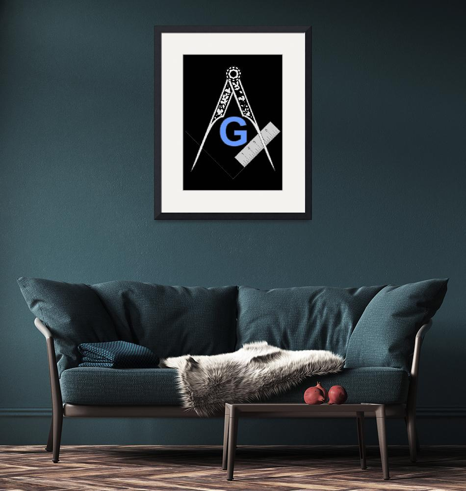 """""""Masonic Square and Compass""""  by ByThePlumb"""