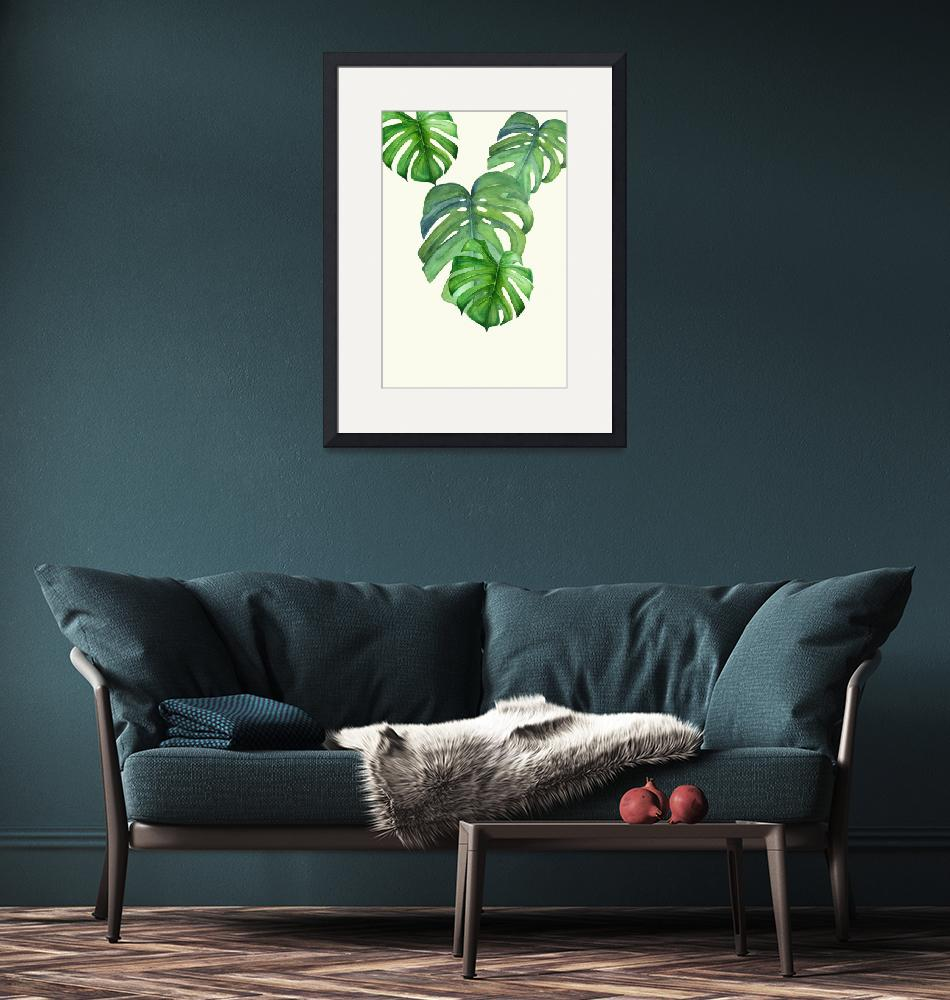 """""""Monstera I""""  (2018) by DreamyFaces"""
