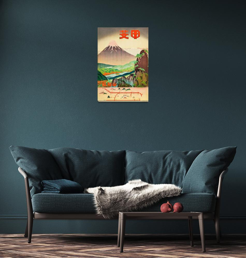 """""""1930s Japan Vintage Travel Poster 2""""  by FineArtClassics"""