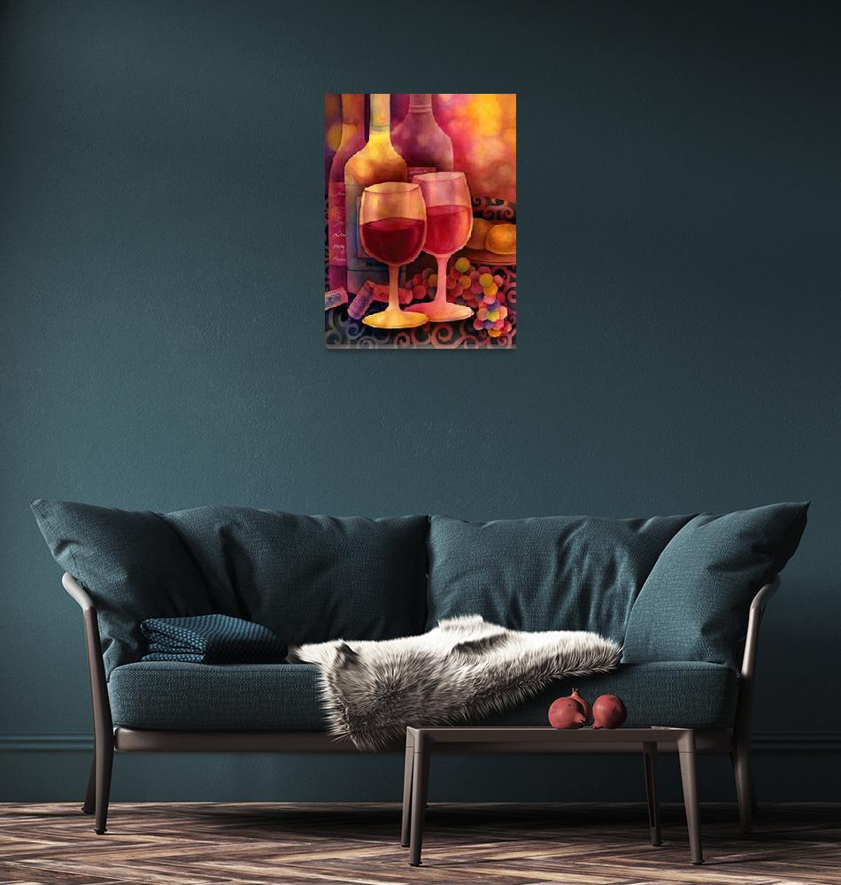 """""""Wine for Two""""  (2013) by HaileyWatermedia"""